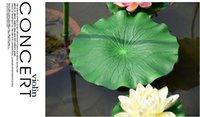 folhas de flor de lótus venda por atacado-Festa de Natal Em Casa Verde Artificial Flor De Lótus Folha Para piscina Casa Tanque de Peixes Da Lagoa folhas De Lótus Decoração Da Folha Do Partido Decorações Do jardim