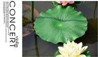 Wholesale lotus flower home decor for sale - Group buy Party Christmas Home Green Artificial Lotus Flower Leaf For pool Home Pond Fish Tank Lotus Leaves Leaf Decor Party garden Decorations