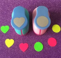 Wholesale Craft Foam Circles - Wholesale- Wave Heart and Wave Circle Shape 1 inch hole punch love Puncher Crafts Scrapbooking round DIY EVA Foam Paper Cutter Punches
