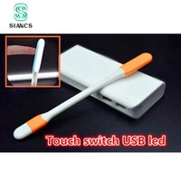 Wholesale Mini Laptop For Dropshipping - Wholesale- SIANCS Hot Dropshipping Touch Swith Mini USB LED Light Lamp USB Gadgets for Xiaomi Power Bank For PC Laptop Notebook OTG