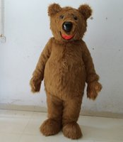 Wholesale Costume Teddy Bear Heads - high quality with one mini fan inside the head teddy bear mascot costume for adult to wear holiday