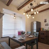 colgante estilo edison al por mayor-Candelabro colgante de iluminación de estilo americano estilo vintage grupo Edison diy lámparas de iluminación linternas accesorios alambre de mensajería