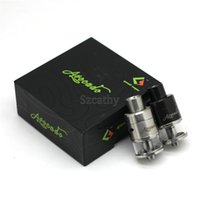 Wholesale Dripping Atomizer Stainless Steel - Avocado 22 RTA Atomizers E Cigarette Vaporizer 3.0ml Metal & Glass Tank Rebuildable Dripping Atomizer Black Stainless Steel