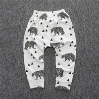 Wholesale Tights Girls Photos - Organic Cotton Knit brown white bear triangles geometric Girl,Boy,Unisex,Baby,Infant,Toddler leggings, pants,stretch,photo prop,take home