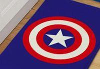 Flannel Flocked Bedroom Hero Doormat Spider Man Superman Captain America  Carpets For Living Room Anti Slip Mat For Bedroom Children Area Rug