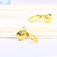 Wholesale Top Wedding Dress Wholesale - Hot Earrings Not Fade Gift For Women Top Fashion Wedding Dressed 24K Gold Plated Fine Jewelry Promotion Time-Limited Wholesale Free Shipping