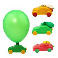 2017 New Classic Aerodinamica Forze Palloncini Car Force Inerziale Power Balloons Run Cars Giocattoli per bambini Bomboniere Halloween