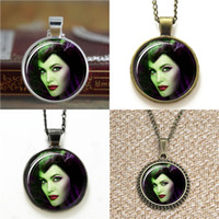 Wholesale Angelina Jolie Earrings - 10pcs Maleficent Angelina Jolie Sleeping Beauty Glass Photo Necklace keyring bookmark cufflink earring bracelet