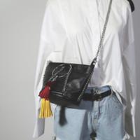 saco de couro do falso transporte livre venda por atacado-Sacos de mulheres Mensageiro mulher Faux Bolsas De Camurça De Couro Franja Borla Ombro Saco de Moda Feminina Moda Coréia Saco Do Corpo Cruz frete grátis
