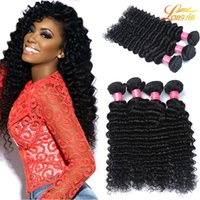 Factory Virgin Indienne Cheveux humains Deep Wave Bundles 7A Unprocessed Extension de cheveux humains brésiliens Cheap Indian Human Hair Machine Double Weft