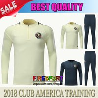 Wholesale Club America Jackets - TOP QUALITY 17 18 CLUB AMERICA Jacket Training suit Kits Jersey Survetement 17 18 Soccer Tracksuit Chandal Maillot de foot football shirts