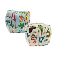 Wholesale YIFASHION pack Boy Forest Printed One Size Baby Swim Diapers Washable Reusable Swimwear Fit baby ages