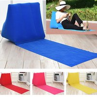 Wholesale Inflatable Beach Pad - Inflatable Garden Lawn Pad Beach Mat Outdoor PVC Flocking Triangle Inflatable Pillow Cushions Pads 5Colors HH-M06