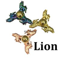 Wholesale Lion Fidget Spinner Zinc Alloy Rainbow Color Hand Spinner Tri spinner Three Arms The Lion King New Arrival EDC Decompression DHL Free