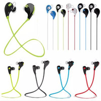Wholesale Sharp Wear - Wireless bluetooth stereo headphone best quality qy7 sport headset in-ear bluetooth wireless wearing style earphone with retail box