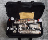 17 key clarinet 17 B Wholesale- Professional Clarinet 17 Key Bakelite Clarinet In B Flat White Body Nickel Plated Key Clarinet With Case And Cleaning Cloth
