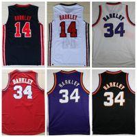 Wholesale Charles Red - 1992 USA Dream Team 14 Charles Barkley Jersey Fashion 34 Charles Barkley Basketball Jerseys Shirt Throwback Uniforms Red Black Purple White