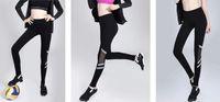 Wholesale Plus Size Gauze Pants - Women sportswear yoga pants quick dry gauze night safety alert reflective stripe running elastic trousers fitness, exercising pants S M L
