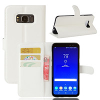 Wholesale Galaxy Active Wallet - Diforate New Arrival Luxury Leather Wallet Phone Flip Cover Pouch Case For Samsung Galaxy S8 Active