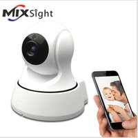 Wholesale Cctv Camera Tf Card - Mini Home Security IR Cut Night Vision IP Camera Wireless Surveillance Wifi 720P CCTV Camera for Baby Monitor With 64GB Memory TF card