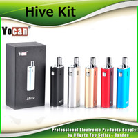 Wholesale Bud Silver - Authentic Yocan Hive 2in1 Kit for Wax & Coil 650mah Battery Box Mods BUD CE3 O Pen Atomizer AIO herbal vaporizer 100% Genuine DHL Free