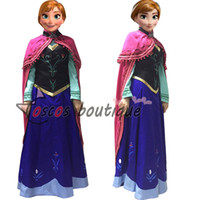 Wholesale Adult Princess Cape - Snow Queen anna dress adult princess anna cape costume cosplay party halloween