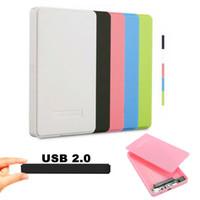 ssd 2,5 toptan satış-Vidasız USB 2.0 480 Mbps Muhafaza Kutusu Kutusu Mobil Disk HDD SSD Laptop için 2.5