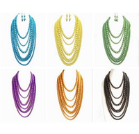 yellow statement fashion necklaces NZ - Free Shipping Wholesale Necklace, Statement Yellow Layered Necklace, Elegant Pretty Necklace, Beaded Fashion Wholesale Trendy Necklace
