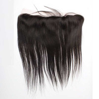 Wholesale Lace Frontal Closure 13x2 - Brazilian Straight Human Hair Lace Frontal Closure 13x2 Ear To Ear Straight Lace Frontal Closure Human Hair Lace Frontals