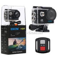 Wholesale action camera lens resale online - New Package EKEN H9R Ultra HD K Action Camera G Remote Control M Waterproof Degree Wide Lens P pfs P P Sport Cam