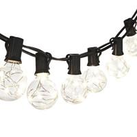 decoraciones de luces de navidad de la vendimia al por mayor-Luces de cuerda de globo G40 vintage con 25 bombillas transparentes Luces de cuerda de hadas de alambre de cobre para decoración de boda de fiesta de patio de jardín de Navidad