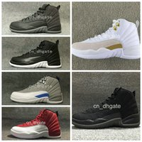 Wholesale 2017 New Air Retro Basketball Shoes OVO Wool Men Women Training Good Quality Leather Retro s XII Wings Outdoor Sports Sneakers
