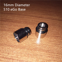 Wholesale Ego Beautiful Battery - 2017 new 16mm 510 ego Base and 16mm 510 mod Base Which is more beautiful with Globe Glass Cover and 16mm diameter batteries