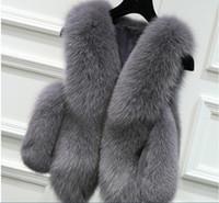 Wholesale Imitation Fur Jackets - Fur vest female short jacket 2017 new autumn and winter Korean imitation fox fur stitching Slim
