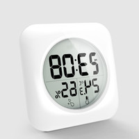 Wholesale Fashion White LCD NEW Waterproof Shower Bathroom Wall Clock Temperature Thermometer Hygrometer Meter Gauge Monitor Humidity KCA1112