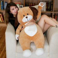 Wholesale Giant Stuff Dog Toys - Latest payment giant new cuddly soft cartoon dog pillow toy stuffed cute animals dogs doll kids present 80cm 100cm