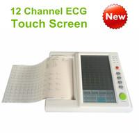Wholesale Digital Ecg Machine - 10.2in touch screen 12 channel ecg machine, Electrocardiograph, ECG monitor, LCD display Digital 12-channel 12-lead ECG EKG Machine