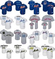Wholesale Cool White Kids - 2017 Men Women Kid Toddler Custom New York Mets Mother Father 2016 Memorial day Training Cool Flex Baseball Jerseys Blue White Grey  XXS-6XL