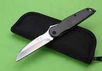 materiais japoneses venda por atacado-Frete grátis Seki Japão 032 033 faca dobrável Blade: D2, lidar com material: TC4 liga de titânio + fibra de carbono, faca de presente, coletar faca