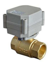 """Wholesale Valve Actuator - 3 4"""" DN20 Brass Electric Ball Valve, 2 way,DC12V, 2 wires BSP thread Motorized ball valve, CR201 with actuator"""