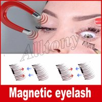 Wholesale Make Permanent - Permanent Magnetic Eyelash 3D Fake Eyelashes Magnet 4 Pieces  Box=1pair 3D Individual Magnetic Fake Eyelashes Extension kit