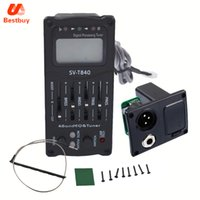 Wholesale Band Bass - SV-T840 Acoustic Guitar Bass EQ Preamp with digital procedding tuner 4 Band EQ Equalizer with Tuner Guitar pickup