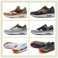 Wholesale Shoes Mans Air 87 - Hot Sale Air Lunar 1 Deluxe 87 Sports Shoes Men Women Leopard Retro Running Shoes Trainer Sneakers With Box Size US5.5--11