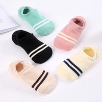 Wholesale Tennis Candy - Hot Sale Women's Socks Short Candy Color Dot Cute Art Non-slip Silicone Socks Female Thin Ankle Cotton Blends Socks Low Cut Sock free size