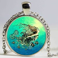 Wholesale Mermaid Pendant Necklace B M New Fashion Round Glass Necklace Mermaid Murano Glass Pendants