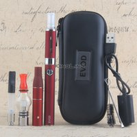 Wholesale Vape Zipper Case - Glass Globe Atomizer EVOD Battery 4 in 1 E Cigarette Zipper Case wax vaporizer Dry Herb Vaporizer Pen Vape Pen Starter Kit DHL