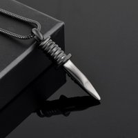 Wholesale Men Knife Pendant - IJD9792 Swiss Army knife Cremation Urn Necklace for Men Personalized Stainless Steel Pet Dogs Cats Ashes Holder Keepsake Memorial Locket