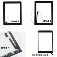 Wholesale Touch Screen Digitizer For iPad Mini iPad iPad Air Front Panel With Home Button tablet screen Replacements Black