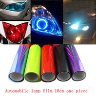 Wholesale Lamp Film - Car light motorcycle headlight film color film color stickers transparent flash lamp taillights blackened electrochromic film