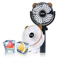 Wholesale Usb Rechargable Batteries - portable mini fans explosion-proof battery rechargable foldable fan USB fans for outdoor sports Black White Green Blue wholesale cheap price